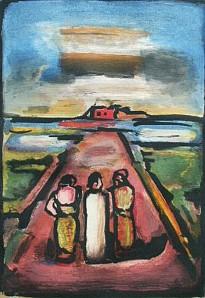 Rouault Christ Disciples