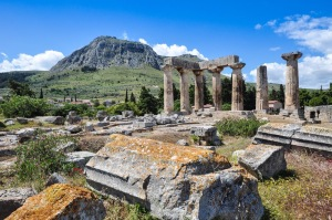 Apollo Temple with Acrocorinth in Background (Holy Land Photos)